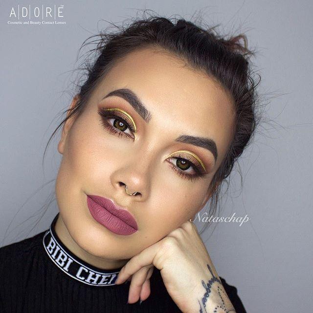 Adore Dare Green color contact lenses